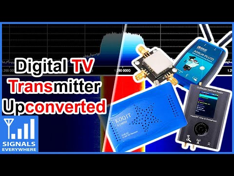 Digital TV Transmitter 70cm ATV to 23cm Satellite Receiver Using a Mixer/Upconverter