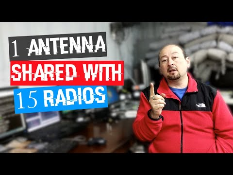 Share 1 antenna with 15 receivers - signal splitting in the shack with TV amp & multicoupler