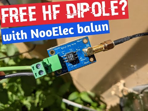 I made an HF Dipole for free! Reception was good on my AirSpy HF+ Discovery SDR!