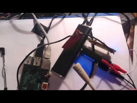 Testing qtcsdr: receiving the transmission with an RTL-SDR via attenuator