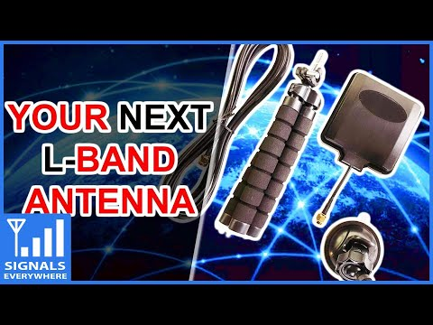 RTL SDR Blog L-Band Inmarsat/Iridium Satellite Service Patch Antenna