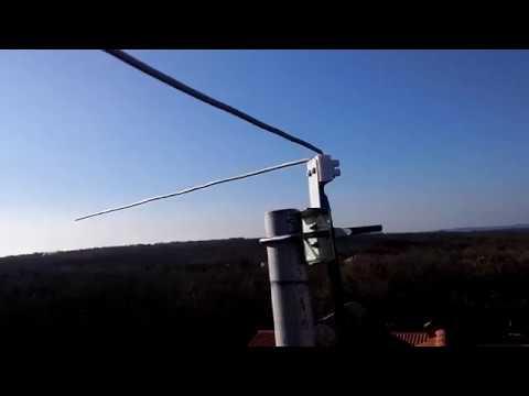 DIY 137 MHz WX sat V-dipole antenna