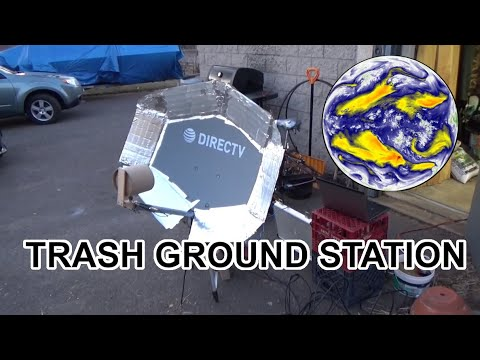 Satellite Ground Station With Trash, Cardboard, and Foil Tape!