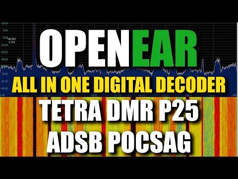 OpenEar Digital Decoder - DMR TETRA P25 ADSB POCSAG RTL-SDR