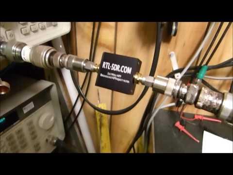 RTL-SDR 88-108 MHz Bandstop Filter & 2.6 MHz HPF Broadcast AM Filter Measurements