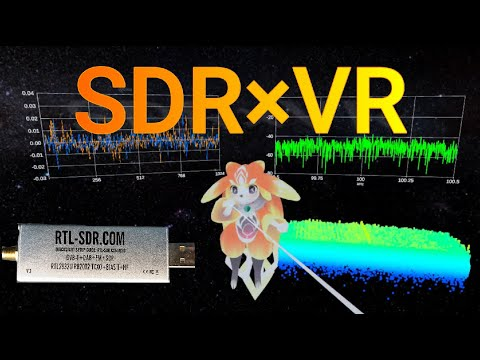 RTL-SDR×VR(Virtual Reality) with oculus quest2