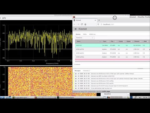 DragonOS LTS/10 KerberosSDR + HackRF One (qspectrumanalyzer, kismet, rtl_433, rtlamr, rtladsb)