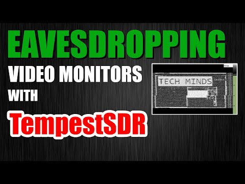 Eavesdropping Video Monitors With TempestSDR RTL-SDR