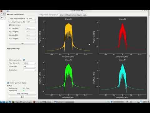 DragonOS LTS/10 Direction Finding Bearing Server (KerberosSDR, RDFMapper)
