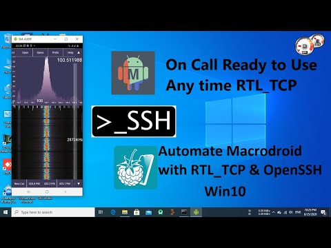 Automate MacroDroid with RTL_TCP through OpenSSH under Windows 10