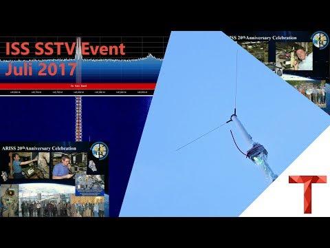 [EN subs] ISS SSTV Event Juli 2017 - Empfang von drinnen und V-Dipole