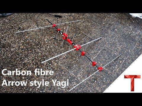 [EN subs]Carbon Arrow Yagi Antenne - leichte Dual Band Yagi für 20€ bauen
