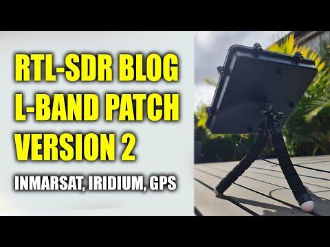RTL-SDR BLOG L-BAND Patch Antenna Version 2 - Inmarsat - Iridium - GPS