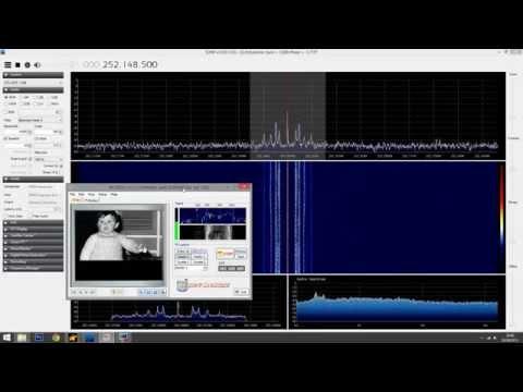 SSTV from Satcom satellites. RTL-SDR SDRSharp FLTSATCOM pirates