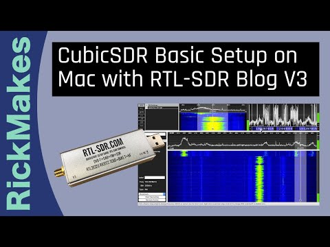 CubicSDR Basic Setup on Mac with RTL-SDR Blog V3