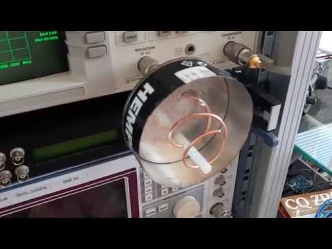 Helical feed for the 2.4 GHz QO-100 satellite