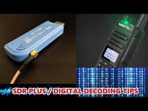 Tips on using SDR Plus and DSDPLUS to listen to DMR/DIGITAL conversations.