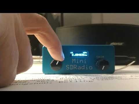 Demo of mini SDR receiving VOLMET Station