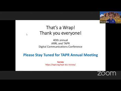 TAPR DCC 2021 Saturday session