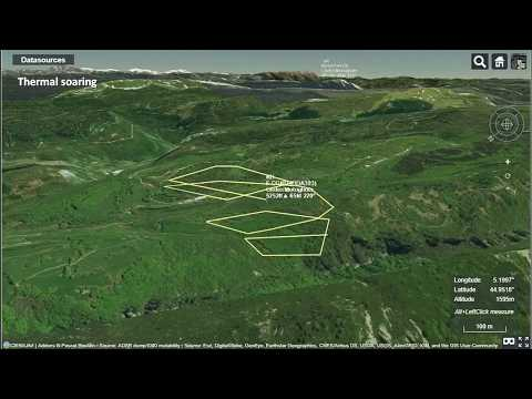 3D view of typical soaring flights