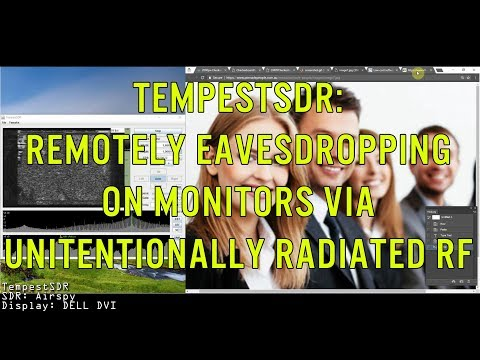 TempestSDR - Remotely Eavesdropping on Monitors via Unintentionally Radiated RF