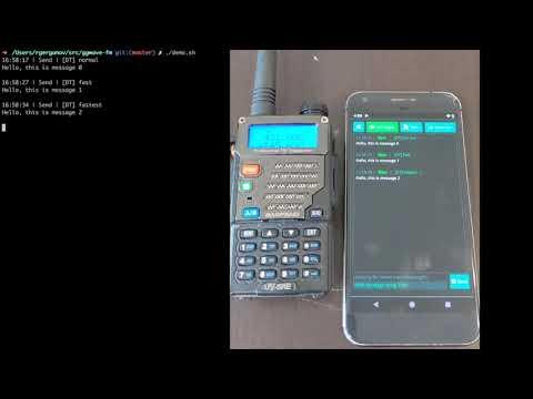 Transmit ggwave messages with HackRF