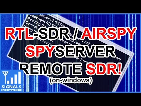RTL SDR Spyserver Remote SDR Setup Tutorial (on Windows)