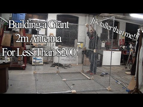 Building a Giant 2m Corner Reflector Antenna For Less than $200 (For Goes-16, Pulsars and More!)