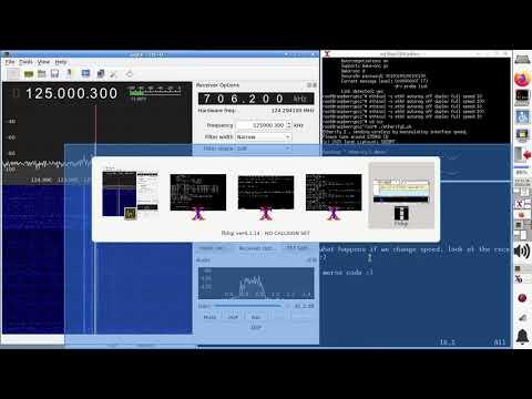 Etherify 1 demo receiving via SDR and decoding via fldigi