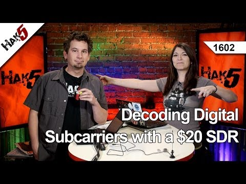 Decoding Digital Subcarriers with a $20 SDR, Hak5 1602