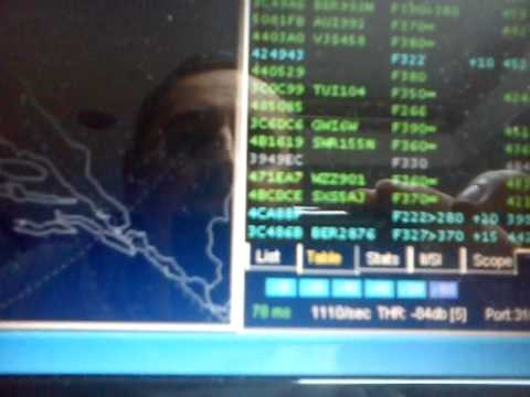DVB-T dongle receiving the ADS-B using the filter