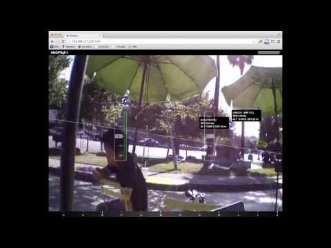 AR.Drone with air traffic (ADS-B) overlaid on camera feed