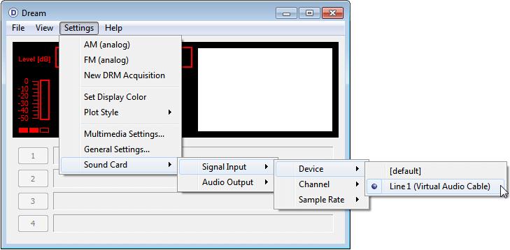 DREAM Audio Settings