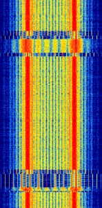 POCSAG/FLEX Pager Waterfall Image