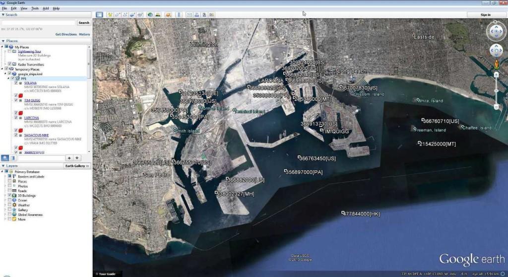 Google Earth AIS Screenshot