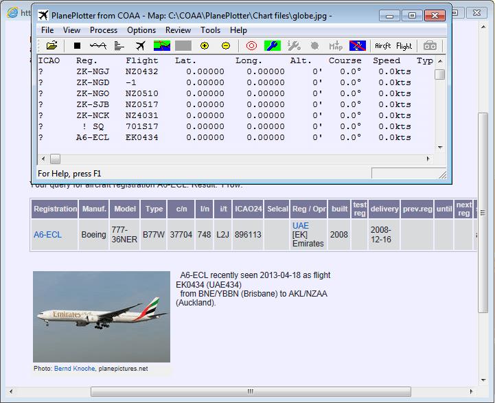 Plane Plotter Planes Window