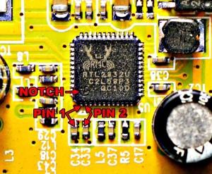 RTL2832 Pin 1 and Pin 2