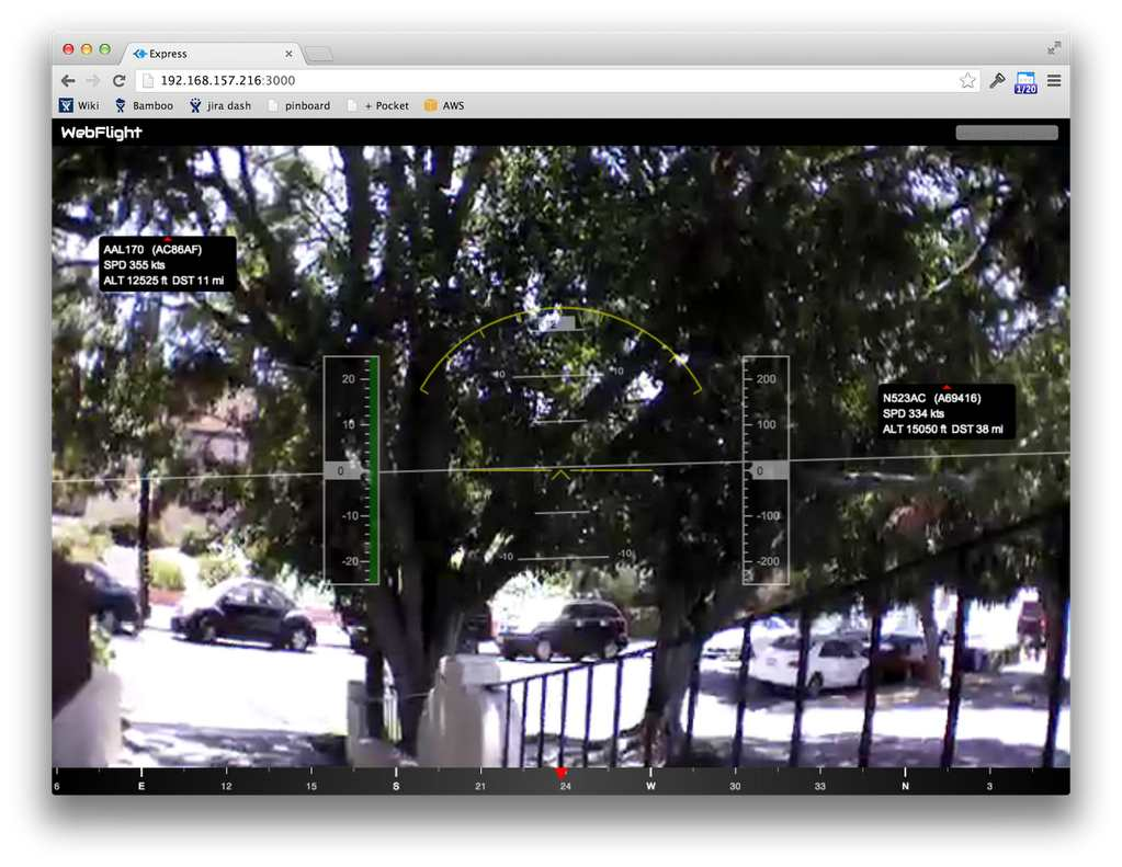 AR Drone with Augmented Reality ADS-B using RTL-SDR