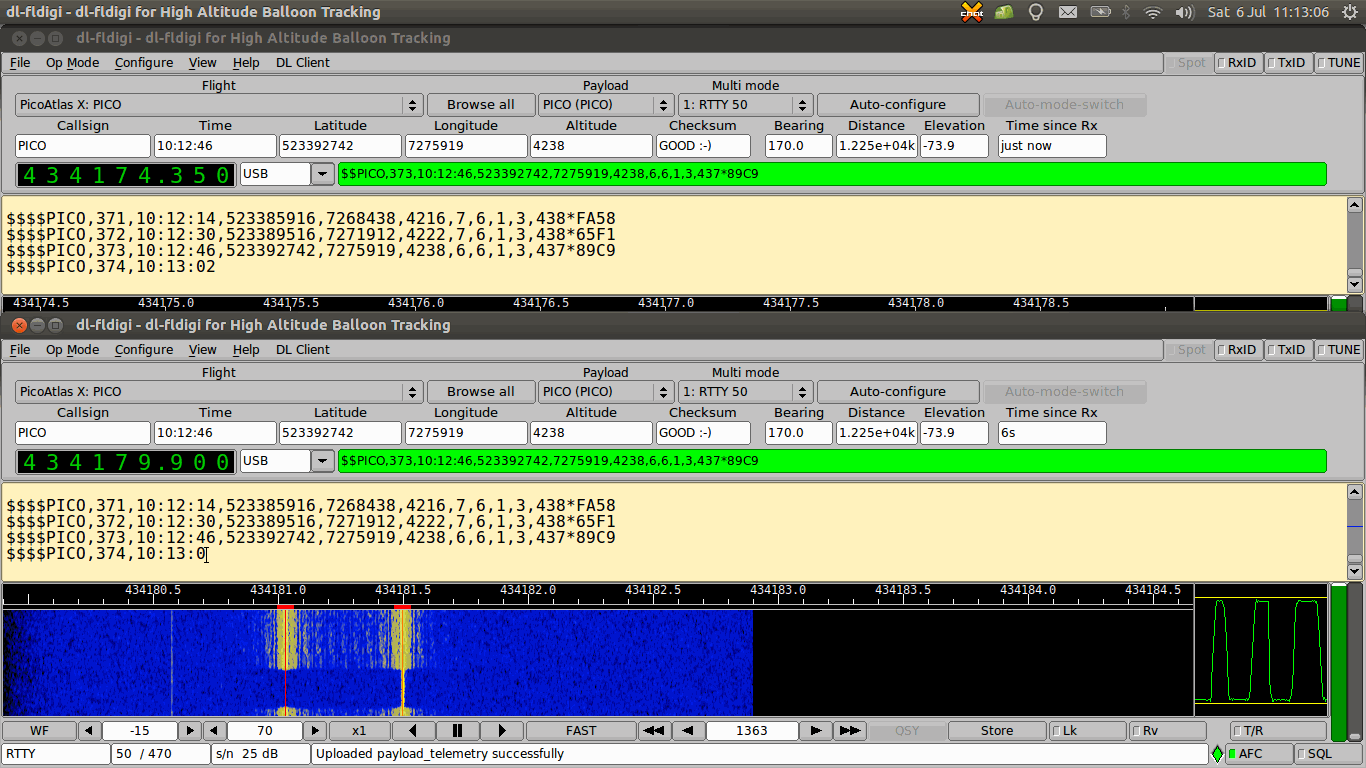 PICO High Altitude Ballo0n Recevied with HackRF