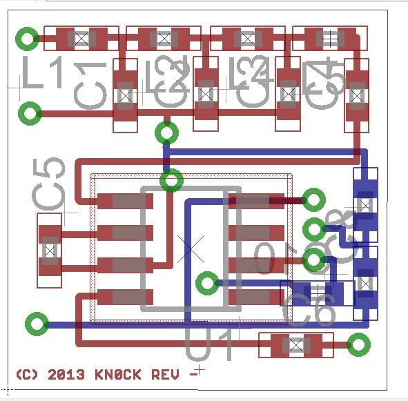 Smallest HF Radio 15mm x 15mm Circuit Plot