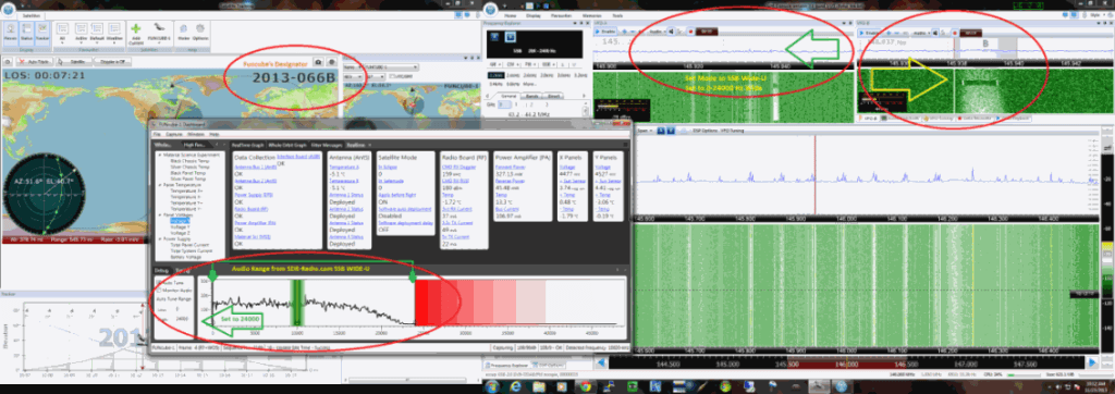 Using the RTL-SDR to listen to the Funcube Satellite