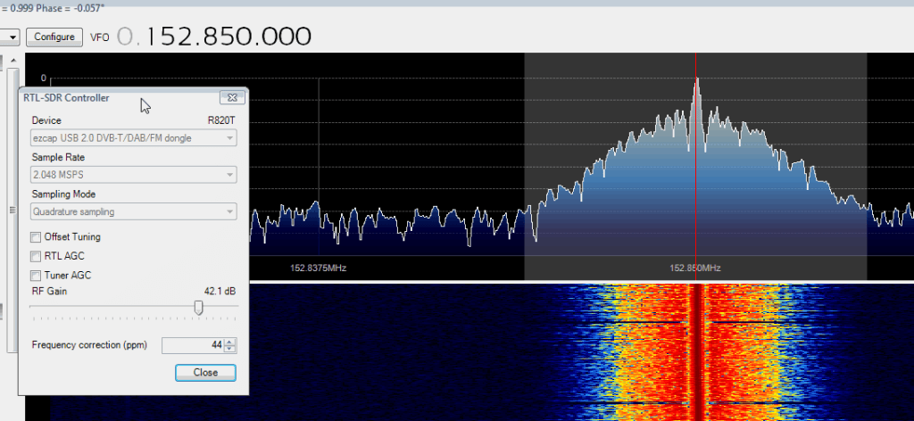 Standard Dongle Frequency Offset