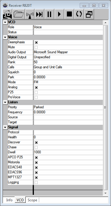 Set up the voice receiver
