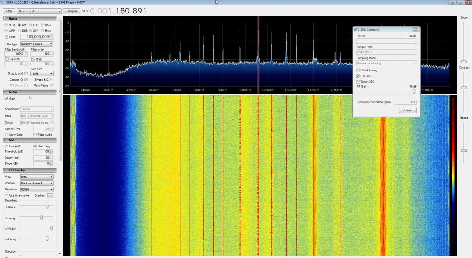 No Hardware Mod Direct Sampling in SDR# Receiving AM Radio