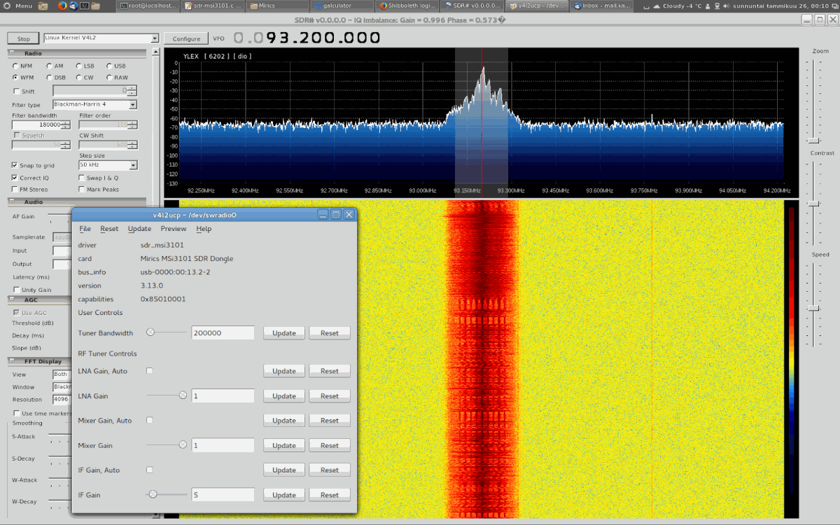 Video4Linux Gain Controls and SDR#