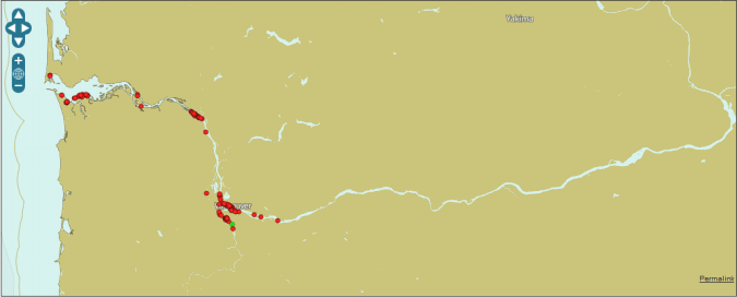 Map from Aishub.net
