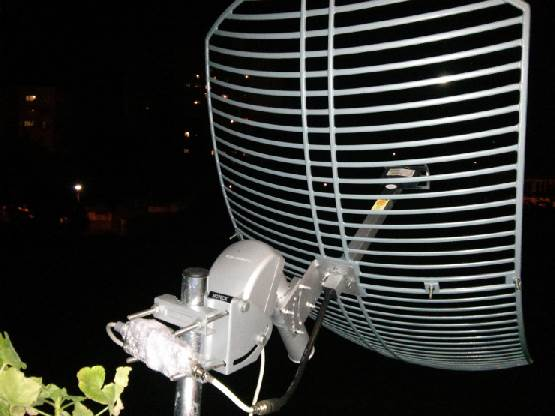 WiFi Parabolic Mesh Antenna for the S Band