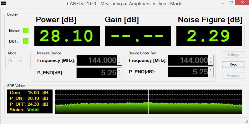 Noise Figure Indicator Software