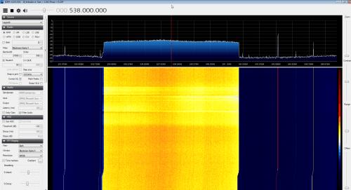 HackRF Receiving a DVB-T Signal