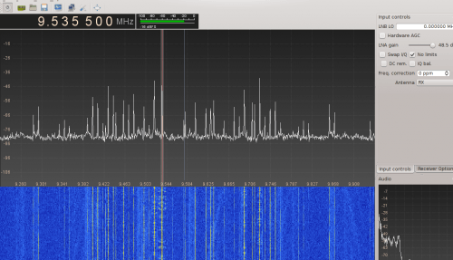 Reddit user gat3way was able to take this screenshot showing AM reception at 9.5 MHz